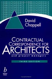 Cover of: Contractual correspondence for architects and project managers