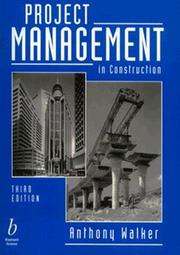 Cover of: Project management in construction