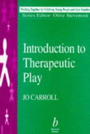 Cover of: Introduction to therapeutic play