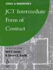 Cover of: Jones & Bergman's JCT intermediate form of contract