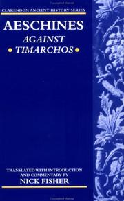 Cover of: Against Timarchos