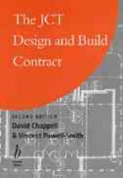 Cover of: The JCT design and build contract