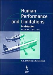 Cover of: Human performance and limitations in aviation | R. D. Campbell