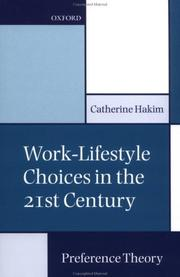 Cover of: Work-Lifestyle Choices in the 21st Century | Catherine Hakim