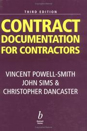 Cover of: Contract documentation for contractors
