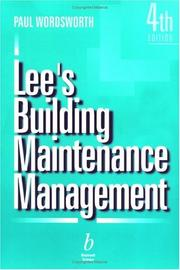 Cover of: Lee's building maintenance management by Reginald Lee