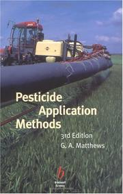 Cover of: Pesticide application methods