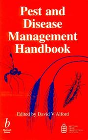 Cover of: Pest and Disease Management Handbook | D. V. Alford