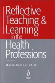 Cover of: Reflective Teaching and Learning in the Health Professions