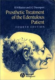 Cover of: Prosthetic treatment of the edentulous patient |