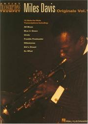 Cover of: Miles Davis - Originals Vol. 1 (Artist Transcriptions)