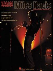 Cover of: Miles Davis - Standards Volume 1 (Artist Transcriptions)