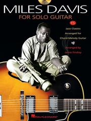 Cover of: Miles Davis for Solo Guitar