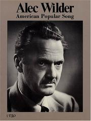 Cover of: Alec Wilder - American Popular Song