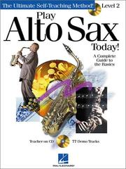 Cover of: Play Alto Sax Today! | Hal Leonard Corp.