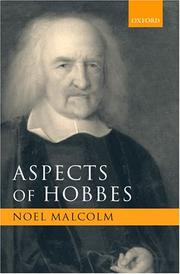 Cover of: Aspects of Hobbes