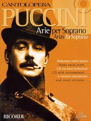 Cover of: Puccini Arias for Soprano: Cantolopera Collection