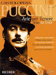 Cover of: Puccini Arias for Tenor: Cantolopera Collection