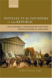 Intellectual Founders of the Republic by Sudhir Hazareesingh
