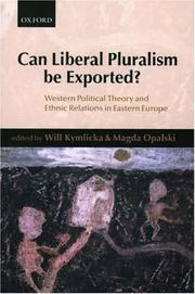 Cover of: Can liberal pluralism be exported? |