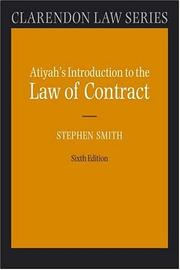 Cover of: Introduction to the law of contract | P. S. Atiyah