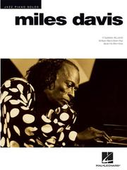 Cover of: Miles Davis (Jazz Piano Solos Series)