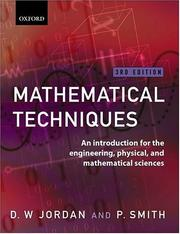 Cover of: Mathematical techniques