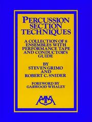 Cover of: Percussion Ensemble Techniques |