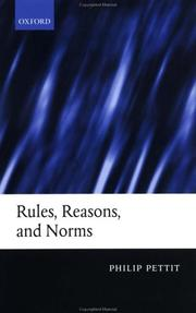 Cover of: Rules, Reasons, and Norms