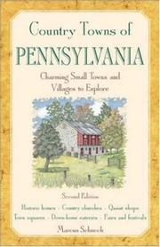 Cover of: Country towns of Pennsylvania