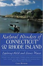 Cover of: Natural wonders of Connecticut & Rhode Island