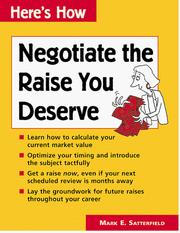 Cover of: Negotiate the raise you deserve