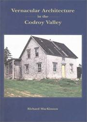 Cover of: Vernacular Architecture in the Codroy Valley (Mercury Series) | Richard Mackinnon