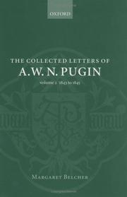 Cover of: The collected letters of A.W.N. Pugin