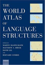 Cover of: The world atlas of language structures by