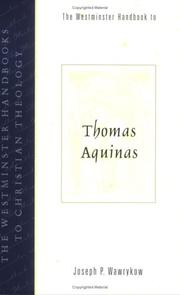 Cover of: The Westminster handbook to Thomas Aquinas
