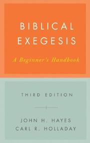 Cover of: Biblical exegesis