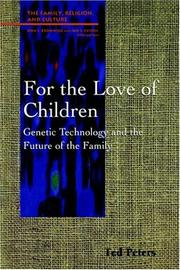 Cover of: For the love of children