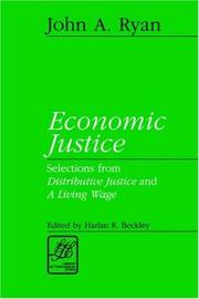 Cover of: Economic justice | John Augustine Ryan