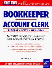 Cover of: Bookkeeper, account clerk