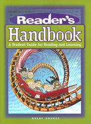 Cover of: Reader's Handbook: A Student Guide For Reading And Learning: 3rd Grade