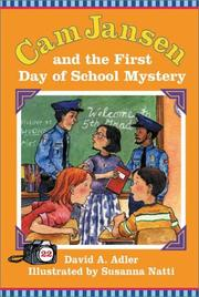 Cover of: Cam Jansen and the first day of school mystery