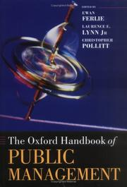 Cover of: The Oxford handbook of public management