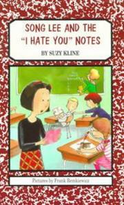 "Cover of: Song Lee and the ""I hate you"" notes 