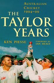 Cover of: The Taylor years