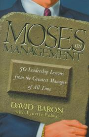 Cover of: Moses on Management