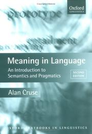 Cover of: Meaning in language