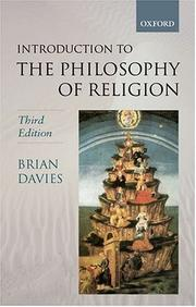 Cover of: introduction to the philosophy of religion | Davies, Brian