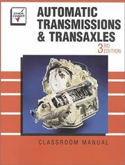 Cover of: Automatic Transmissions and Transaxles | Chek