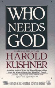 Cover of: Who Needs God? Cassette